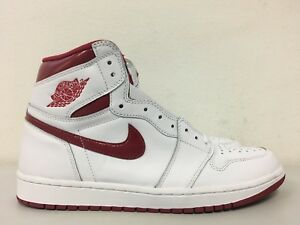 49b4328dc7a Nike Air Jordan 1 Retro High OG Metallic Red White 555088 103 Mens ...