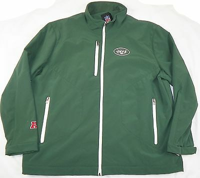 New York Jets Jacket Men's NFL Overtime Softshell Football Coat Mid-weight