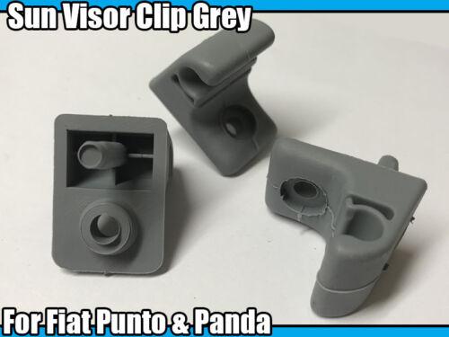 2x Sun Visor Clip Gris pour Fiat Punto /& Panda visière clip de remplacement