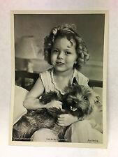 "Shirley Temple 1937 Union Dresden Film Star Series 9 5""X7"" Cigarette Photo Card"