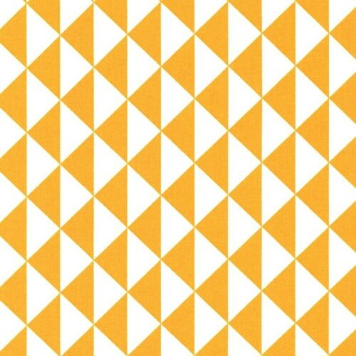 Grey /& Mustard 100/% Cotton FABRIC by the metre CHEVRON TRIANGLE GEOMETRIC DOT