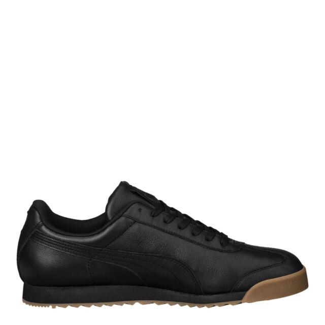 c45adec87 PUMA 366408-02 Men's Roma Classic Gum Sneaker Black Team Gold 9 D(m ...