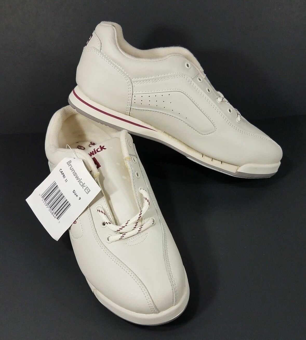 NWT Brunswick Capri II  Blanc  lace up comfort bowling  chaussures  ladies  Femme  Taille 9