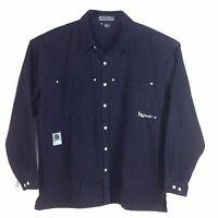 Hedz.up Usa, Men's Denim Jeans Jacket, Charcoal, 100% Cotton