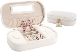 Details About Lelady Jewellery Box Organiser Small Travel Jewellery Case Portable Faux Box
