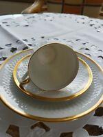 Hutschenreuther Arzberg Luxor 1 Kaffeegedeck weiß Goldrand