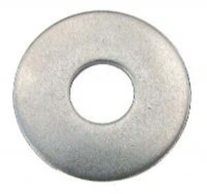 """50 x 1/"""" x 3//16/"""" BZP PENNY MUDGUARD REPAIR METAL WASHERS 25mm x 5mm HOLE  ROUND"""