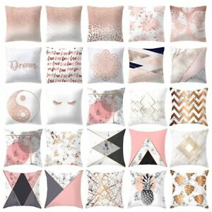 45cm-Pink-Rose-Gold-Cushion-Covers-Home-Sofa-Car-Decor-Pillow-Cases-Polyester