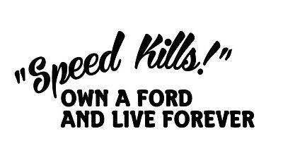 drive a VW Vinyl Sticker Live forever SPEED KILLS