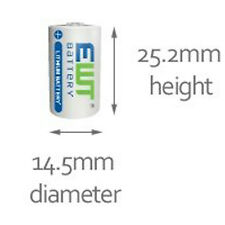 1 x ER14250 LS14250 Half AA, 1/2AA, 3.6v 1.2Ah IMAC Primary Lithium Battery PIR