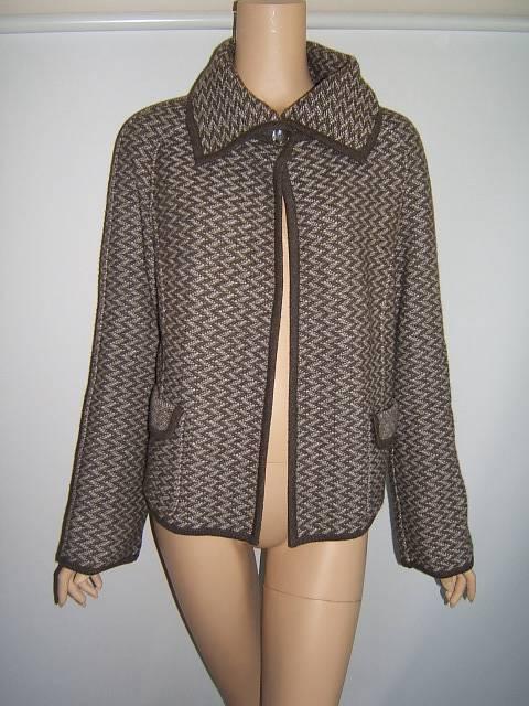 RENA LANGE Medium 8 10 SOFT CASHMERE CASHMERE CASHMERE WOOL Cardigan OLIVE GREEN BROWN Sweater d644ae