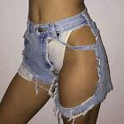 Fashion Women Summer Ripped Womens High Waisted Denim Shorts Jeans Hot Pant S-XL