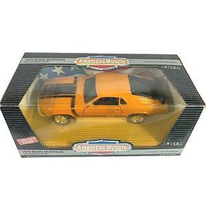 #7326 American Muscle Grabber Orange 1970 Ford Boss 302 Mustang Die Cast 1:18