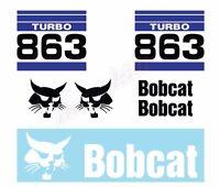Bobcat 863 Turbo V2 Skid Steer Set Vinyl Decal Sticker - Aftermarket