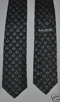 New Masonic Square Mason BLACK Neck Tie MASON Making Good Man Better Hand Made