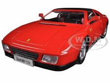 FERRARI 348 TS RED 1:18 DIECAST MODEL CAR BY BBURAGO 16006