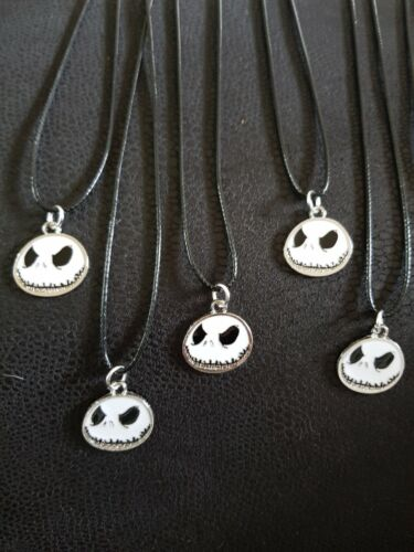 Black And White Jack Skellington The Nightmare Before Christmas Cord Necklace