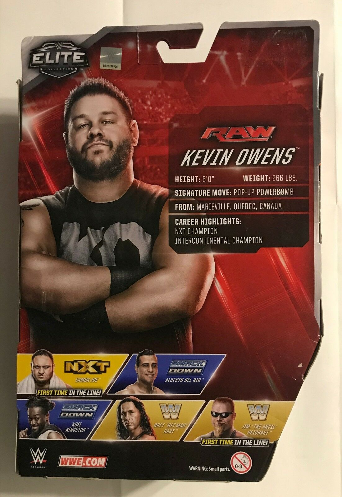 2016 WWE  ELITE COLLECTION  SERIES A  KEVIN OWENS  ACTION FIGURE