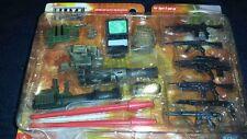 New Elite Force Weapons Set 1/18 scale 1:18 XD Combat Command computer radio