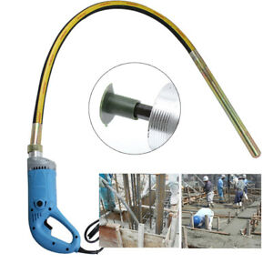 110V-1300W-handheld-Concrete-Vibrator-Construction-W-150CM-Shaft-Needle-HOT