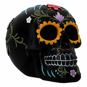 Floral-Festivities-Skull-15cm-Collectible-Gothic-Skull-Skeleton-Wicca-Figurine