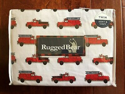 Sheet Set Firetrucks Cotton Rugged Bear