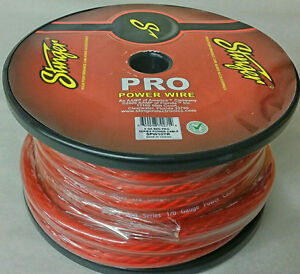 Stinger Pro Series Red 0 Gauge 1//0 Pure Copper Power Wire SPW10TR By The Foot