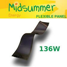 Unisolar 136W Flexible Self-adhesive Laminate Solar PV Panel Narrowboat, Yachts