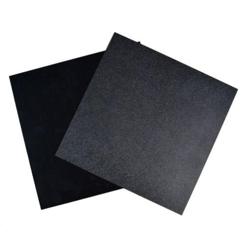 300x300x0.5mm ABS Plastique Plaque Styrène Plat Feuille Noir Board Multi-Purpose