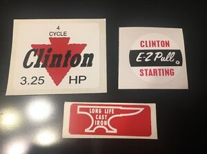 Clinton-engine-decal-set-4-Cycle-3-25-hp-E-Z-Pull-Anvil-Set-3