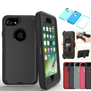 For Apple iPhone 6/6s/7/8 Plus Armor Case Cover Belt Clip Fits Otterbox Defender