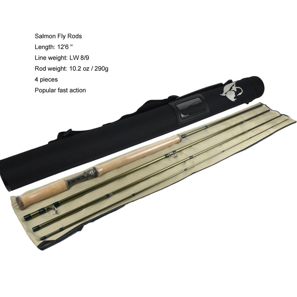 Aventik IM10 LW8 9, 9 10, 10 11 Popular Double Hand Salmon Fly Rods Fast Action