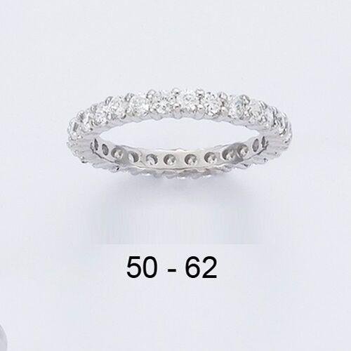 Alliance Rhodié Eternity T58 Rail Diamant Cz 2 mm silver Massif 925 Dolly-Bijoux