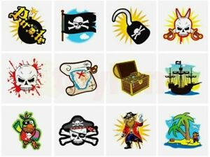 Pirate Temporary Tattoos Children/'s Birthday Loot Party Bag Filler