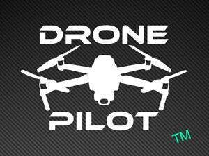 Drone Pilot car sticker,vinyl decal