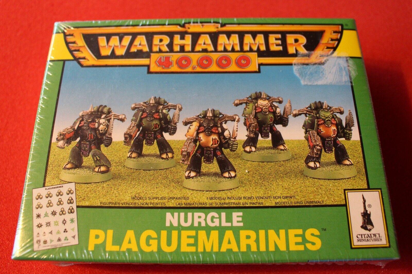 Games Workshop Warhammer 40k Chaos Space Marines Nurgle Plaguemarines BNIB New