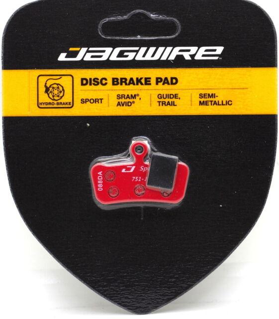 Jagwire Mountain Sport Semi Metallic Disc Brake Pads SRAM Guide RSC RS R Avid