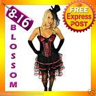 BAK Kiss Burlesque Moulin Rouge Corset Skirt 8 10 12 14