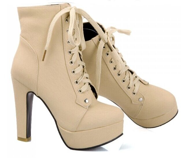 boots winter Braun Damens's schuhe heel 11 cm like Leder 8784