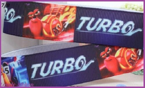 2 metres 7//8 TURBO Cake Decoration Grosgrain Cars Hair 22mm,Lovely Ribbon