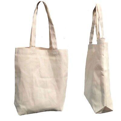 1 Dozen Large Big Reusable Grocery Shopping Totes Bags Canvas Wholesale Bulk