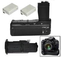 Camera Battery Grip For Canon 600d 700d Rebel T2i T3i T5i Dslr Bg-e8 +2x Lp-e8