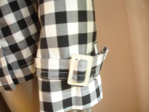 Cotton Black Checks Ralph Manteau L Exquisite White Taille Lauren 100 wq8x18UpI