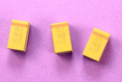 16V 7343D 10/% Tolerance 3.6X3X2mm 10pcs 47uF Chip SMD Tantalum Capacitor