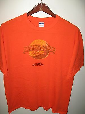 Southwest Airlines Rapid Rewards WN LUV Orlando Florida USA Orange T Shirt XLrg