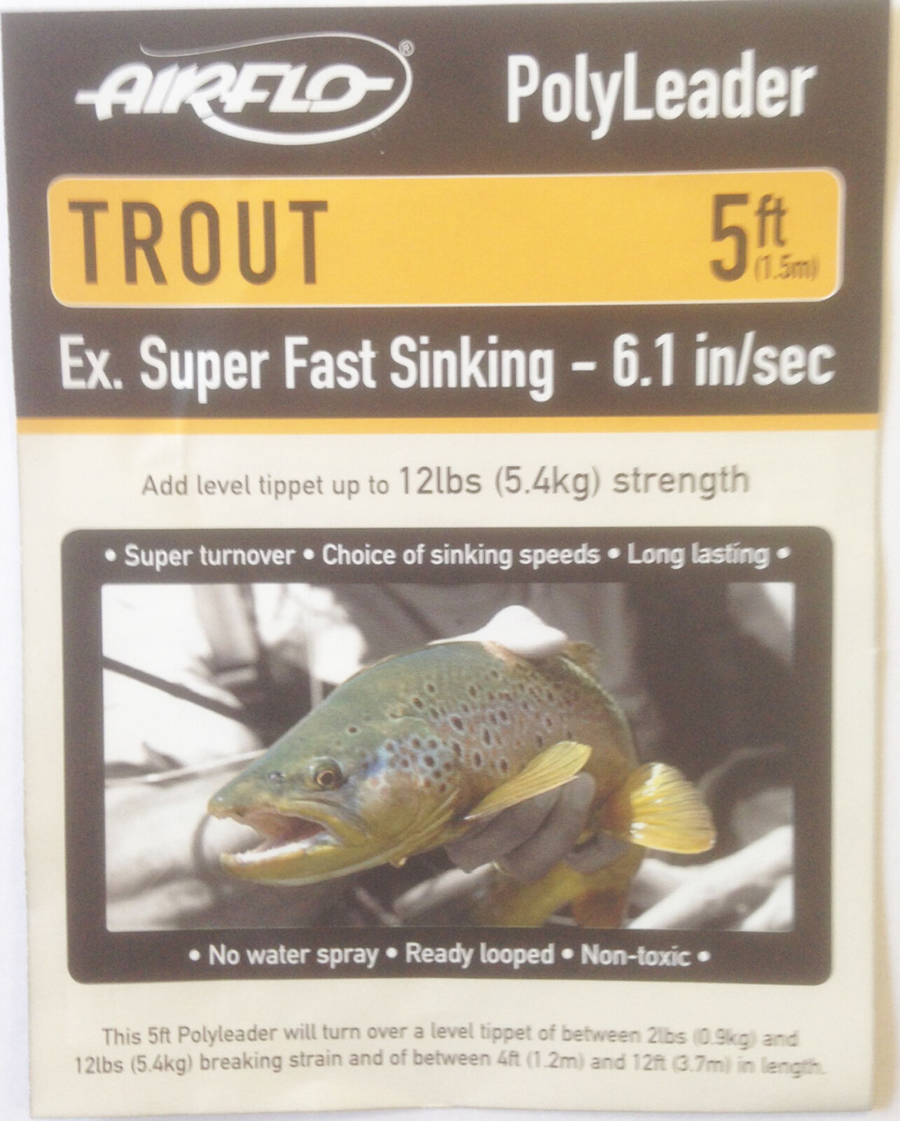 Fly Fishing Airflo Floating Trout Polyleader 5ft