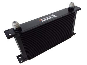 Motamec-Oil-Cooler-19-Row-235mm-Matrix-10-AN-JIC-Black-Alloy