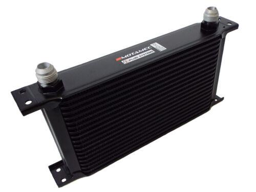Motamec Oil Cooler 19 Row 10 AN JIC Black Alloy 235mm Matrix
