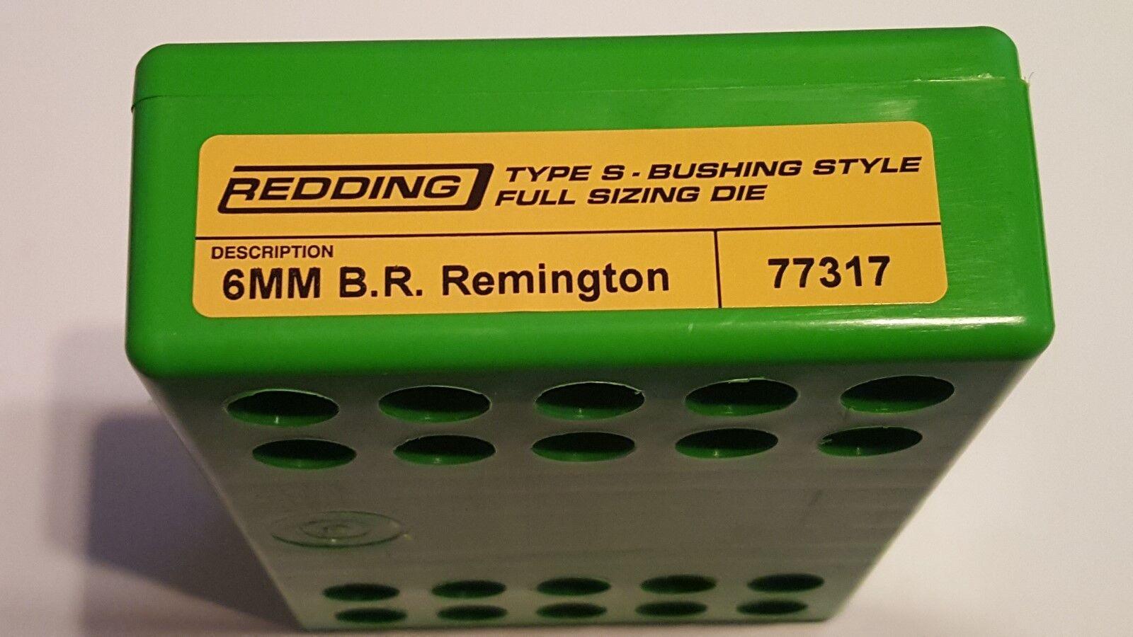 77317 rojoDING Tipo S Buje De Longitud Completa De Tamaño Die - 6MM BR REMINGTON-Nuevo
