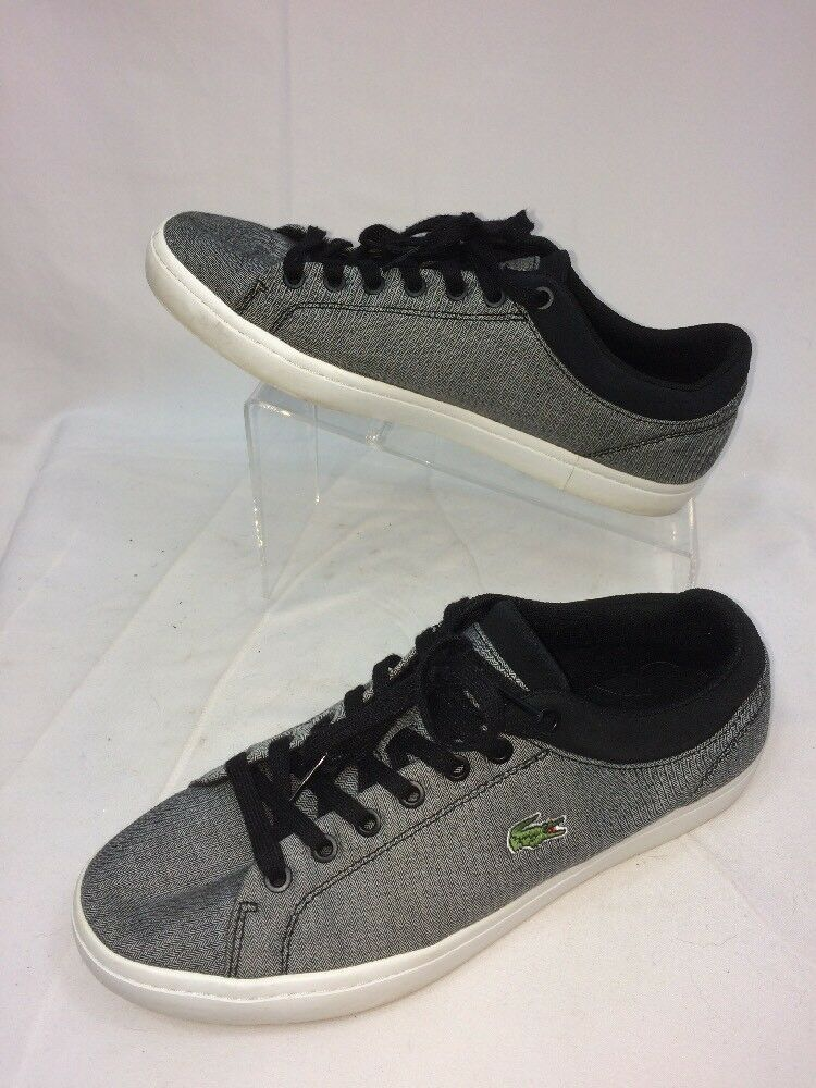 Lacoste Mens Straightset Sneakers color Grey Size 10.5 Nice